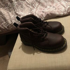 Dr. Marten dark Brown steel toes